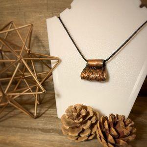 Jewelry - Owl Wing Copper & Verdigris Pendant Necklace